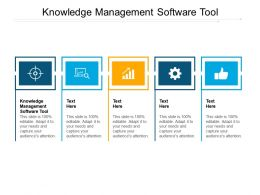 Knowledge Management Software Tool Ppt Powerpoint Presentation Show Cpb