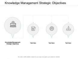 Knowledge Management Strategic Objectives Ppt Powerpoint Presentation Model Template Cpb