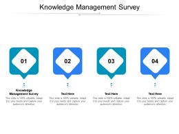 Knowledge Management Survey Ppt Powerpoint Presentation Gallery Slide Portrait Cpb
