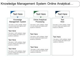 Knowledge Management System Online Analytical Processing Providing Quality
