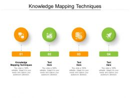 Knowledge Mapping Techniques Ppt Powerpoint Presentation Infographics Design Templates Cpb