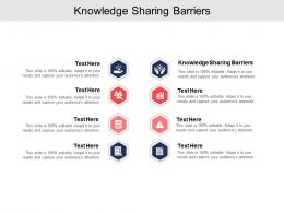 Knowledge Sharing Barriers Ppt Powerpoint Presentation Slides Background Designs Cpb