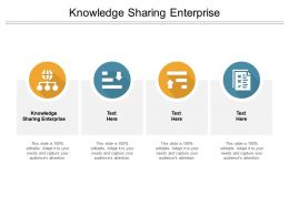 Knowledge Sharing Enterprise Ppt Powerpoint Presentation Inspiration Demonstration Cpb