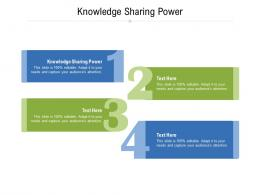 Knowledge Sharing Power Ppt Powerpoint Presentation Pictures Slides Cpb