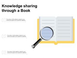 Knowledge Sharing Through A Book