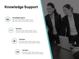 Knowledge Support Ppt Powerpoint Presentation Professional Designs Cpb
