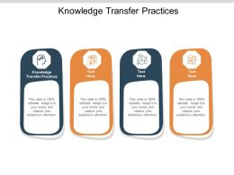 Knowledge Transfer Practices Ppt Powerpoint Presentation Show Example Topics Cpb