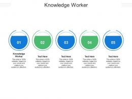 Knowledge Worker Ppt Powerpoint Presentation Infographic Template Guidelines Cpb