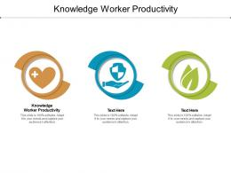 Knowledge Worker Productivity Ppt Powerpoint Presentation Pictures Graphic Images Cpb