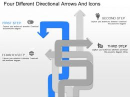 ko Four Different Directional Arrows And Icons Powerpoint Template