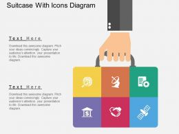 ko Suitcase With Icons Diagram Flat Powerpoint Design