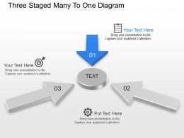 Ko Three Staged Many To One Diagram Powerpoint Template