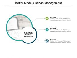 Kotter Model Change Management Ppt Powerpoint Presentation Layouts Styles Cpb