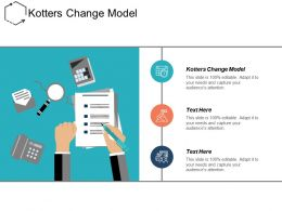 Kotters Change Model Ppt Powerpoint Presentation Infographic Template Outline Cpb