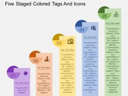 kp_five_staged_colored_tags_and_icons_flat_powerpoint_design_Slide01