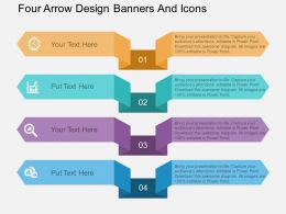 kp Four Arrow Design Banners And Icons Flat Powerpoint Design