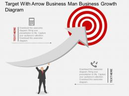 kp Target With Arrow Business Man Business Growth Diagram Flat Powerpoint Design