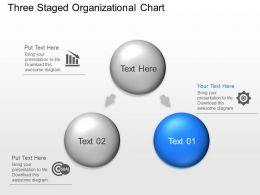 Kp Three Staged Organizational Chart Powerpoint Template