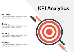 KPI Analytics Ppt Powerpoint Presentation Infographic Template Shapes Cpb
