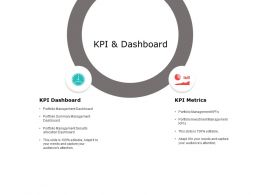 KPI And Dashboard Metrics Ppt Powerpoint Presentation Infographic Template