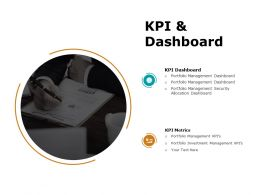 Kpi And Dashboard Ppt Powerpoint Presentation Introduction