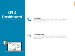 KPI And Dashboard Ppt Powerpoint Presentation Model Slide Portrait