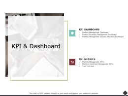 KPI And Dashboard Summary Management Ppt Powerpoint Visual Aids