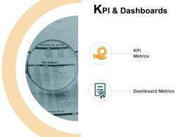 KPI And Dashboards Metrics Gears Ppt Powerpoint Presentation Icon Pictures