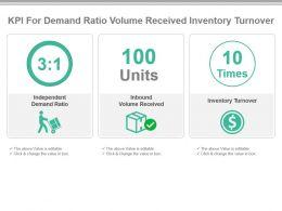 kpi_for_demand_ratio_volume_received_inventory_turnover_powerpoint_slide_Slide01