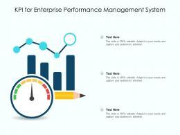 KPI For Enterprise Performance Management System