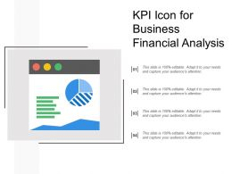 Kpi Icon For Business Financial Analysis