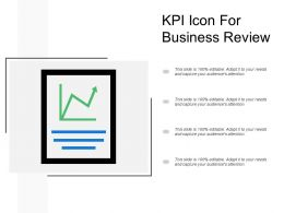 Kpi Icon For Business Review
