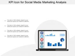 Kpi Icon For Social Media Marketing Analysis
