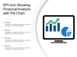 Kpi Icon Showing Financial Analysis With Pie Chart