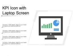 Kpi Icon With Laptop Screen