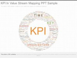 Kpi In Value Stream Mapping Ppt Sample