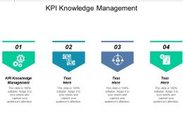 Kpi Knowledge Management Ppt Powerpoint Presentation Ideas Graphics Cpb
