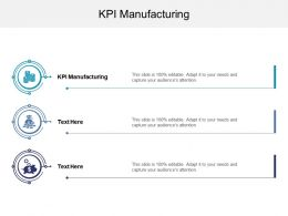 KPI Manufacturing Ppt Powerpoint Presentation Model Layouts Cpb