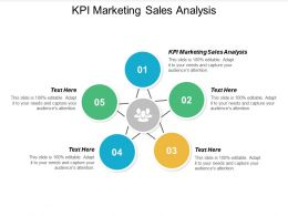 KPI Marketing Sales Analysis Ppt Powerpoint Presentation Infographics Summary Cpb
