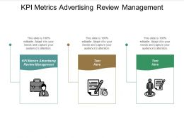 KPI Metrics Advertising Review Management Ppt Powerpoint Presentation Infographics Brochure Cpb
