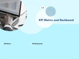 KPI Metrics And Dashboard Laptop Ppt Powerpoint Presentation Deck