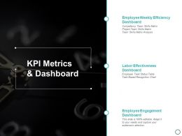 Kpi Metrics And Dashboard Ppt Powerpoint Presentation Diagram Images
