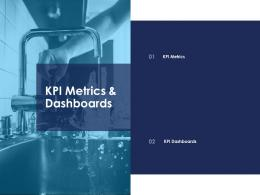 kPI metrics and dashboards urban water management ppt summary