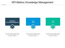 KPI Metrics Knowledge Management Ppt Powerpoint Presentation Layouts Mockup Cpb