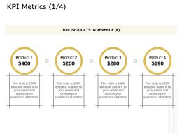 KPI Metrics Product Ppt Powerpoint Presentation File Structure