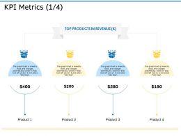 KPI Metrics Revenue Ppt Powerpoint Presentation Icon Maker