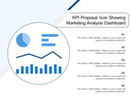 Kpi Proposal Icon Showing Marketing Analysis Dashboard
