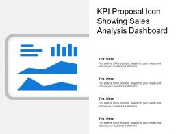 Kpi Proposal Icon Showing Sales Analysis Dashboard