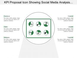 Kpi Proposal Icon Showing Social Media Analysis Dashboard