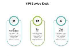 KPI Service Desk Ppt Powerpoint Presentation File Information Cpb